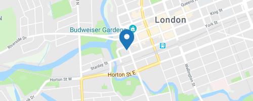 London map location