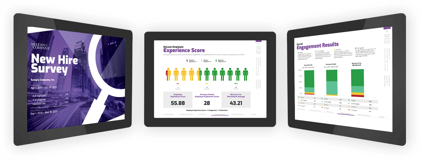 McLean New Hire Survey Experience Scores and Engagement Results