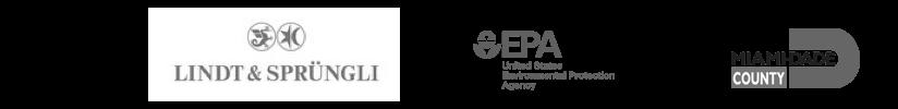 lindt and sprungli, epa, miami-dade county logos